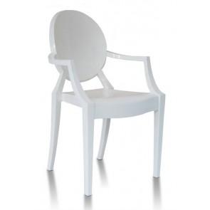 Plastična stolica GHOST - krem